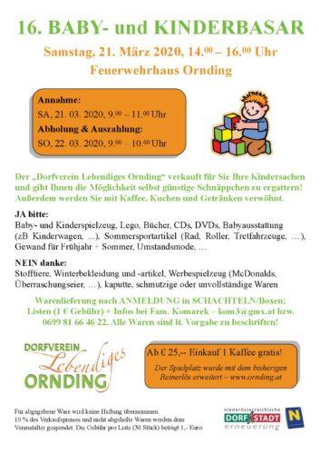 16. Baby- und Kinderbasar in Ornding
